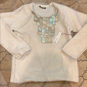 Rozae Nicholas embellished tulles sweater